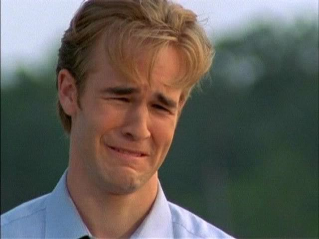 dawson crying, dawson's creek, ugly crying, crying movies, man tears, movies that make men cry
