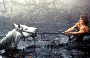 the neverending story, atreyu, swamps of sadness, artax, saddest movie