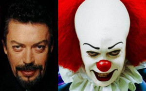 tim curry, it, pennywise, clown, scary actors
