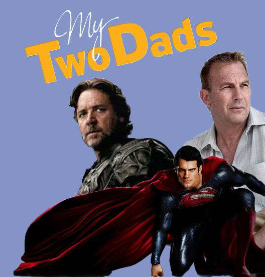 my two dads, jor el, pa kent, man of steel, superman movie