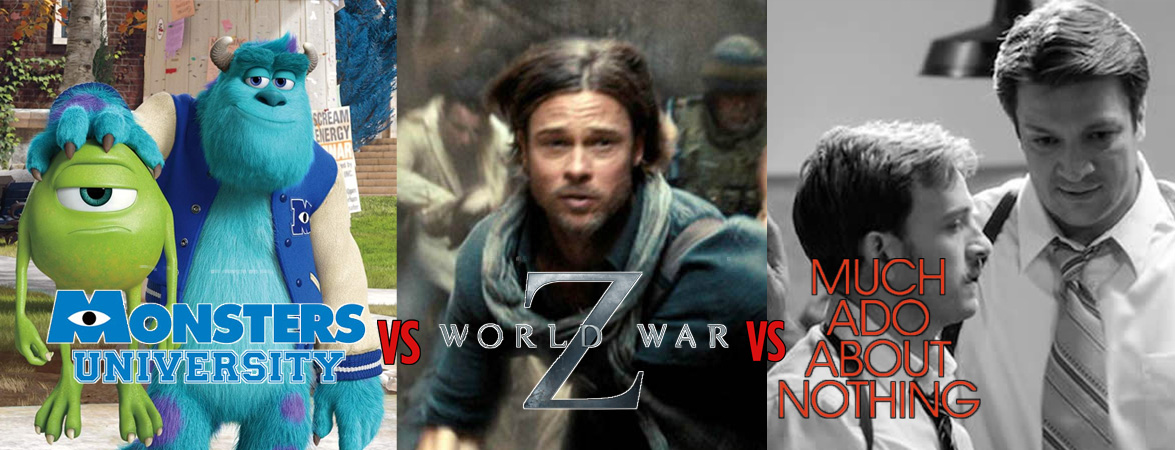Monsters University vs World War Z vs Much Ado About Nothing
