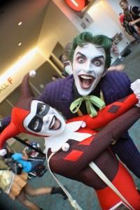 joker, harley quinn, batman cosplay, comic con cosplay