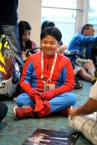 spiderman cosplay, spider boy, comic con
