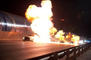getaway movie, explosions