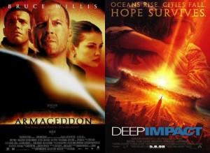 armageddon deep impact, asteroid movies, disaster movies, copycat movies
