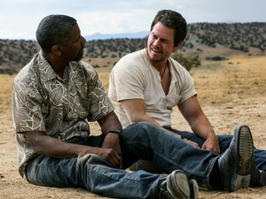 denzel, wahlberg, mexican stand off, 2 guns movie