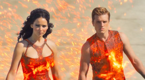 hunger games 2, fire costumes, peeta, katniss