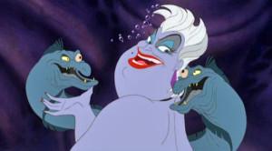 ursula, sea witch, disney spinoffs, best disney villains