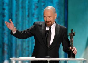 bryan cranston, heisenberg, cranston winning award, bryan cranston awards show