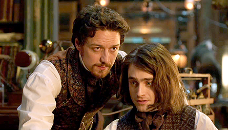 frankenstein, victor frankenstein, igor movie, daniel radcliffe, james mcavoy