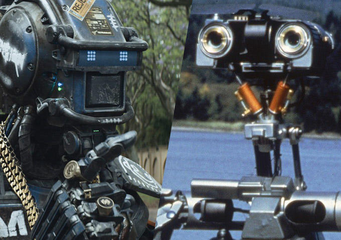 chappie, johnny 5, short circuit, robot movies