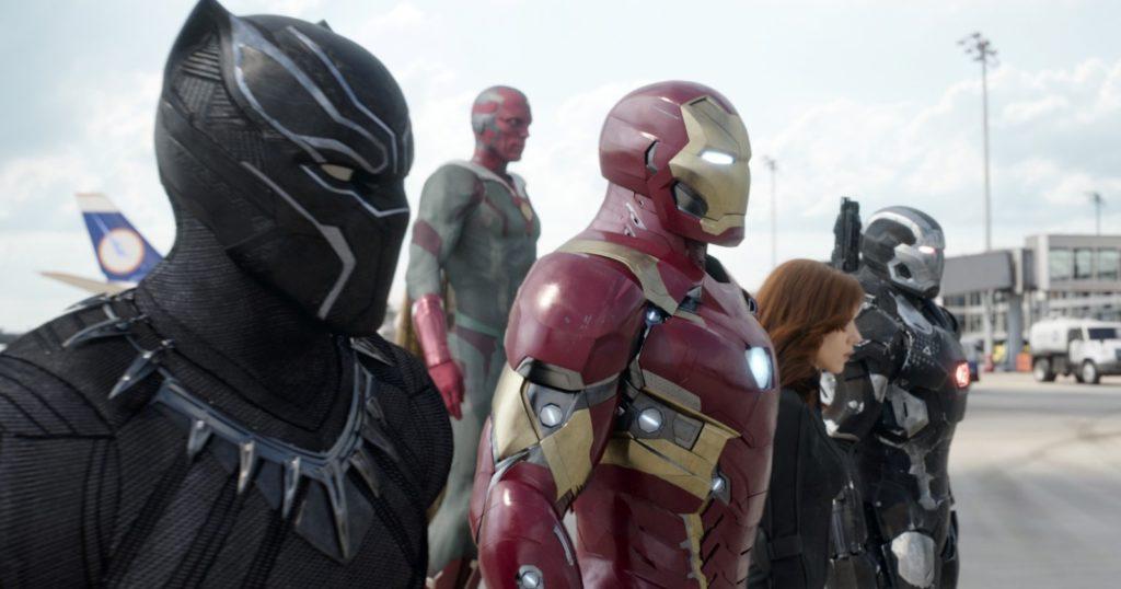 iron man team, captain america, civil war, black panther, spider-man homecoming