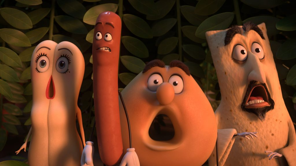 sausage party, worst movies 2016, bad cartoons, cartoons for adults